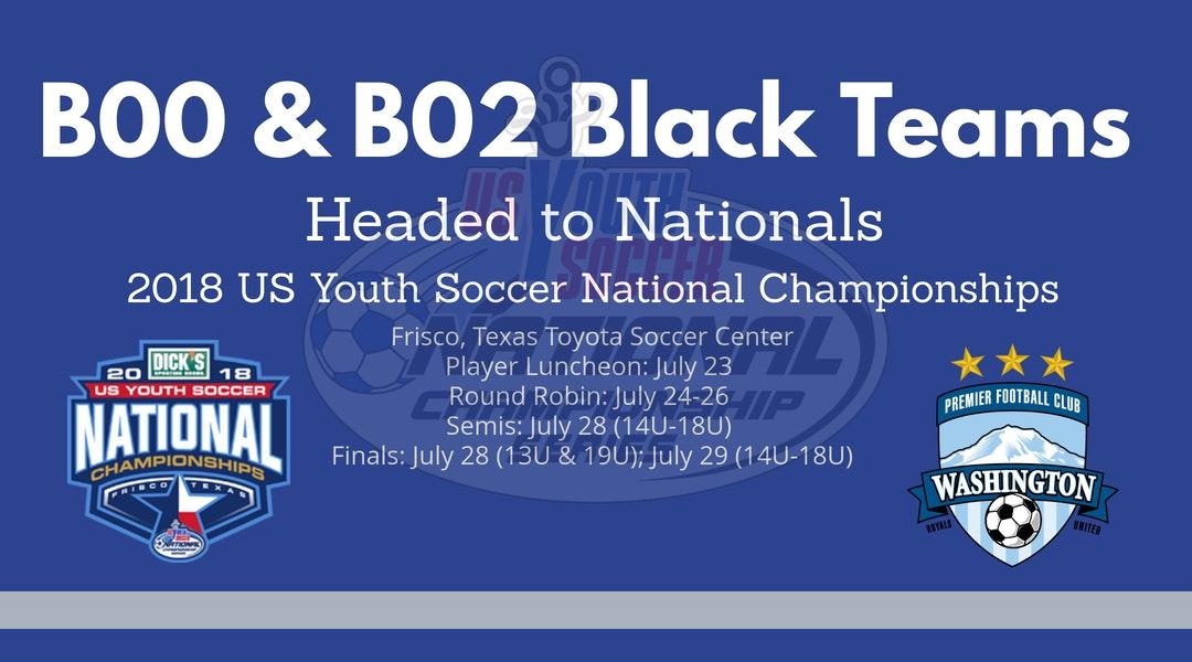 Wpfc B02 And B00 Black Teams Headed To Nationals Washington Premier Fc