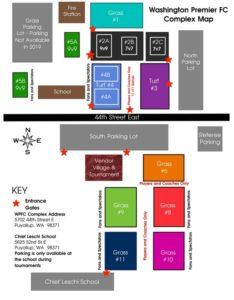 Complex Map & Directions - Washington Premier Football Club
